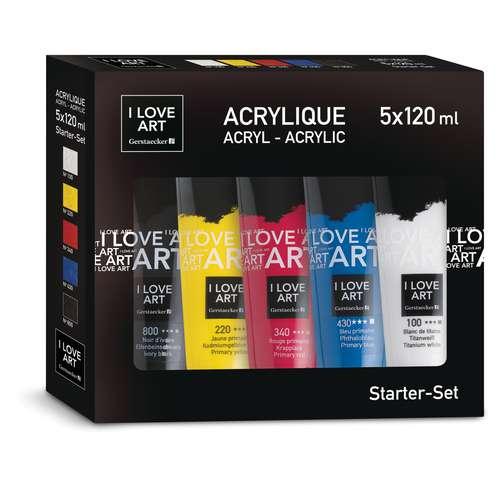 I Love Art  - Set di colori acrilici