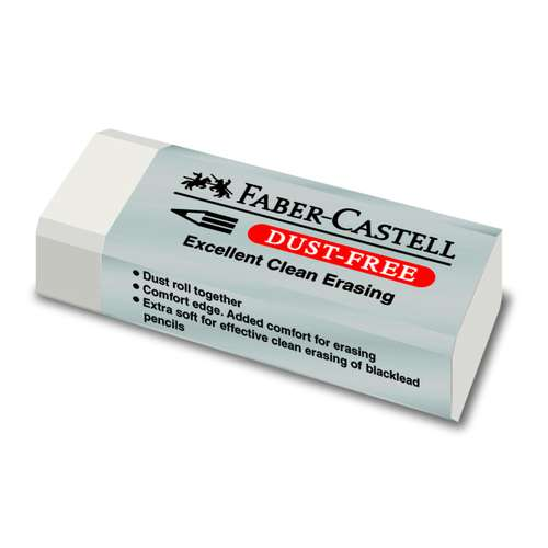 Faber-Castell Dust-Free gomma per cancellare