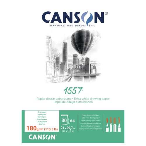 Canson 1557 - Blocco da disegno collato su  un lato