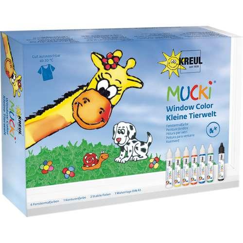 """Kreul - Mucki Window Color, set """"il mondo degli animali"""""""