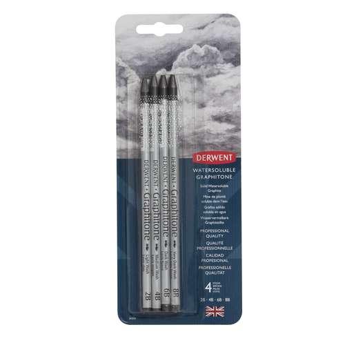 Derwent - Set da 4 matite di grafite acquerellabili