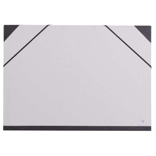 Clairefontaine - Cartella di presentazione in cartoncino grigio