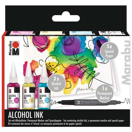 Marabu - Alcohol Ink Set Flowers