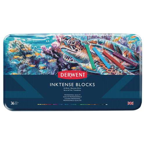 Derwent - Inktense Blocks, set di pastelli acquerellabili